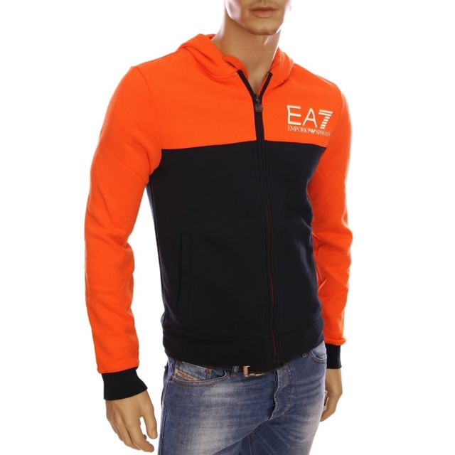 Armani - Ea7 - Armani running - Gilet à capuche orange homme hiver 2016  274140 5A259 2e768d70230