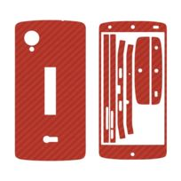 Mygoodprice - Sticker autocollant aspect carbone 3D skin pour Lg Nexus 5 Orange