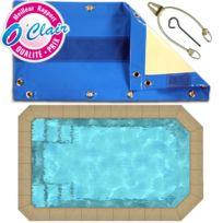 Piscine Center O'CLAIR - Bâche opaque Nara Safe pour piscine coque polyester Piscine Provence Polyester Micro-pool