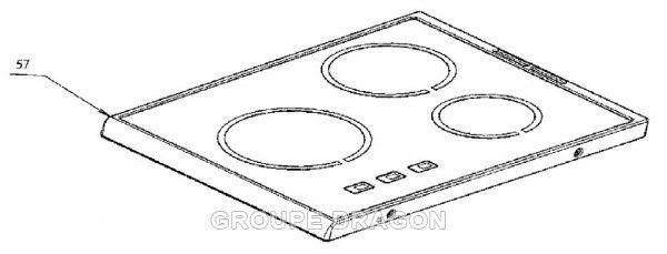 Electrolux Plaque dessus verre vitro-ceram pour cuisinière