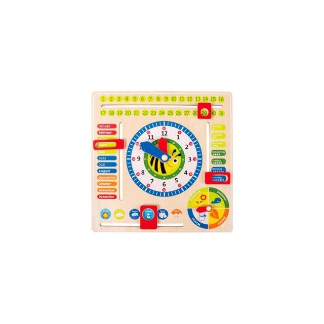 Small Foot Company Tableau éducatif Date, heure et saisons, en allemand