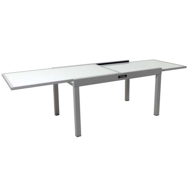 Table de jardin aluminium extensible Porto 10 - Phoenix - Argent