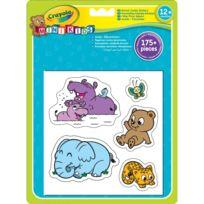 Crayola - Gommettes géantes animaux Mini Kids