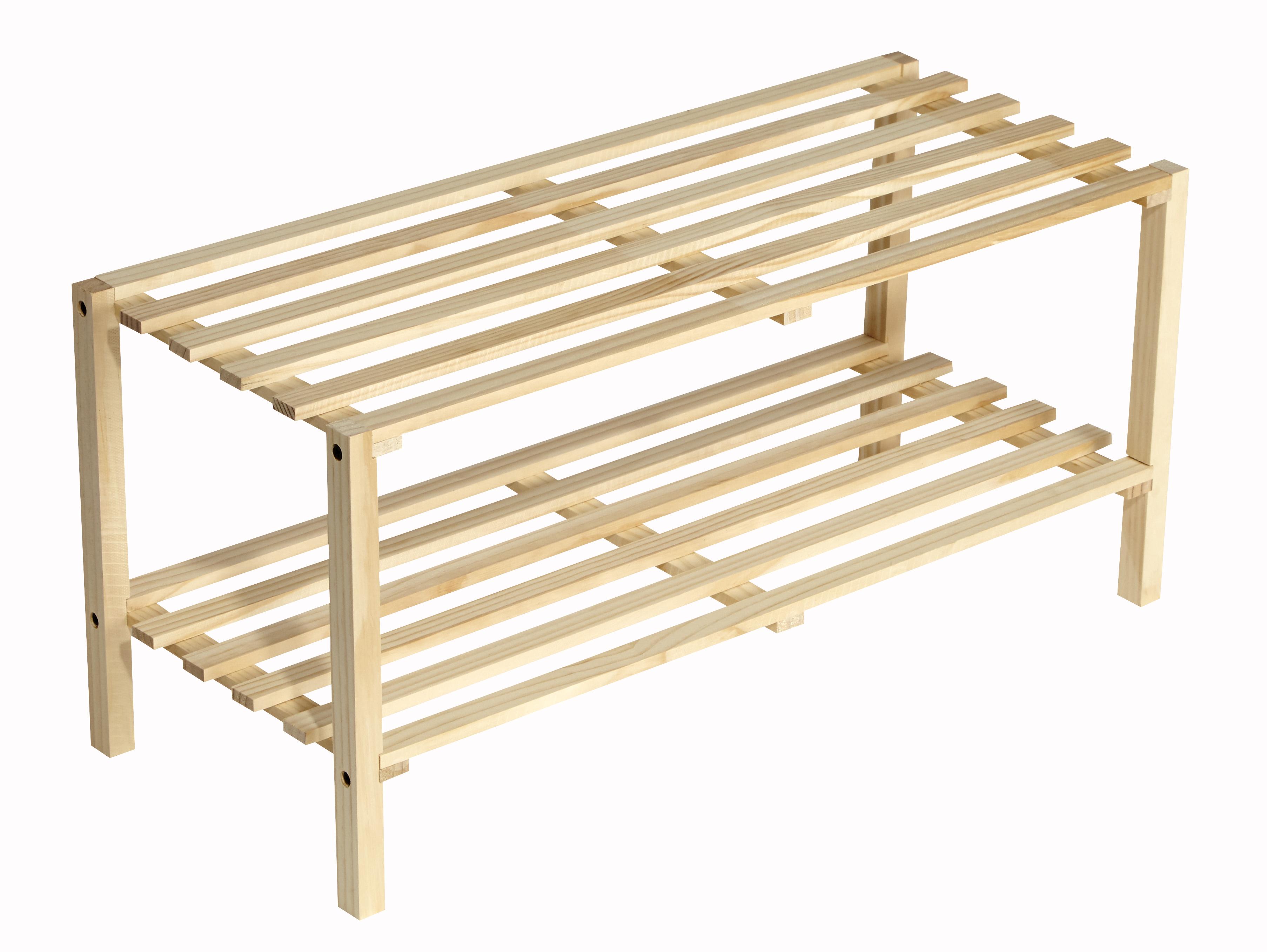 carrefour range chaussures en bois coloris naturel 2425 pas cher achat vente. Black Bedroom Furniture Sets. Home Design Ideas