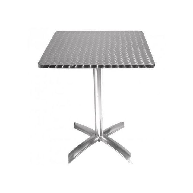 Materiel Chr Pro Table carrée à plateau basculant Inox Bolero 600 mm - Inox