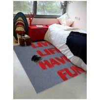 PAPILIO - Tapis LIVE LIFE HAVE FUN Tapis Enfants par rouge 120 x 170 cm
