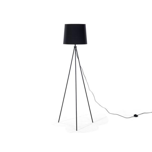 Beliani Lampadaire Design Luminaire Lampe De Salon Noir