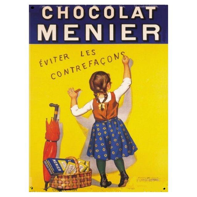 Universel Plaque chocolat menier tole deco cuisine bar restaurant