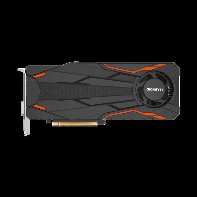 GIGABYTE GeForce GTX 1080 Turbo OC 8Go La GeForce GTX 1080 est la 1ere carte de Nvidia reposant sur la fameuse architecture Pascal : gravure 16 nm et mémoire GDDR5X sont les piliers des performances apportées par cette nouvelle gén&ea