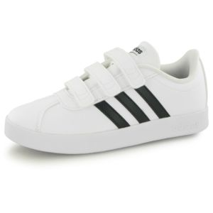 Adidas Performance Vl Court 2.0 Cm blanc, baskets mode enfant