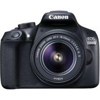CANON - Apppareil photo reflex noir 1300D 18-55 75-300