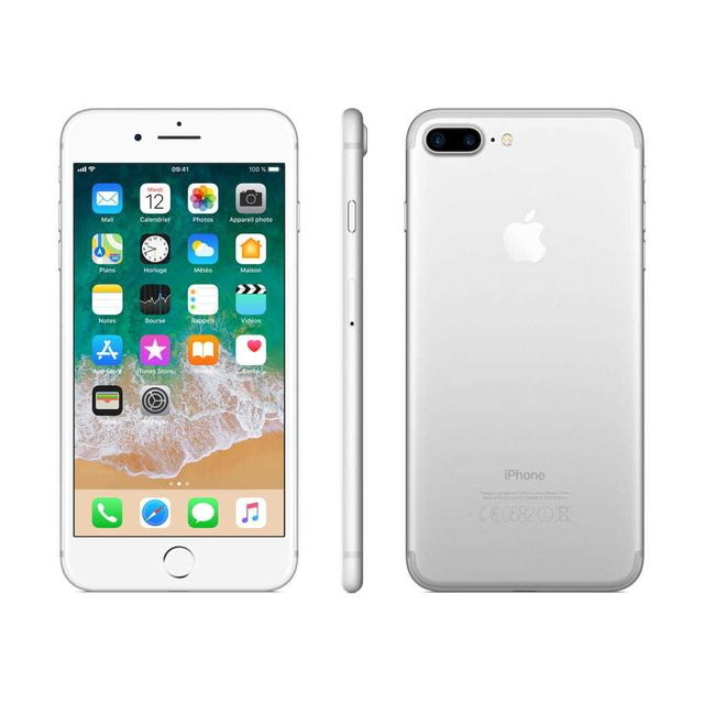 apple iphone 7 plus 128 go mn4p2zd a argent pas cher achat vente smartphone classique. Black Bedroom Furniture Sets. Home Design Ideas