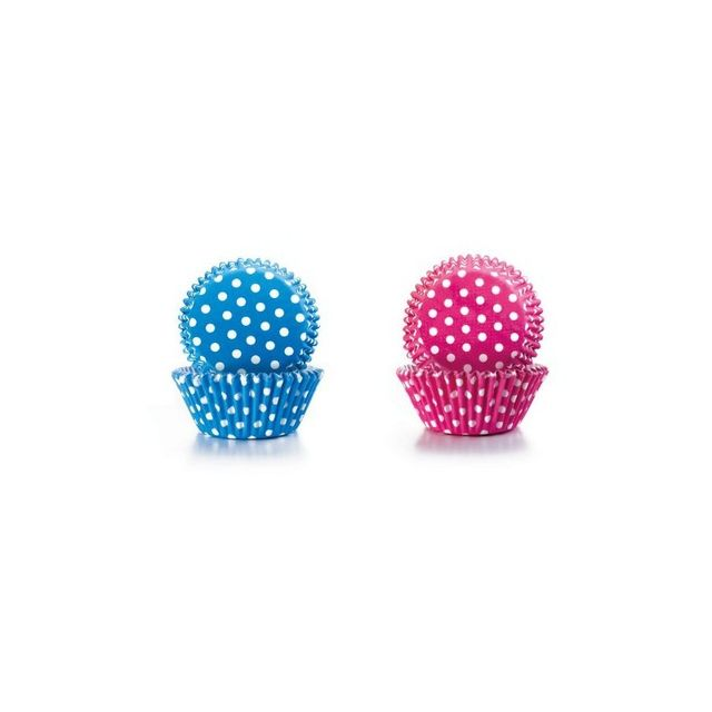 Ibili Capsule Cupcake Bleue+ROSE A Pois 50+50