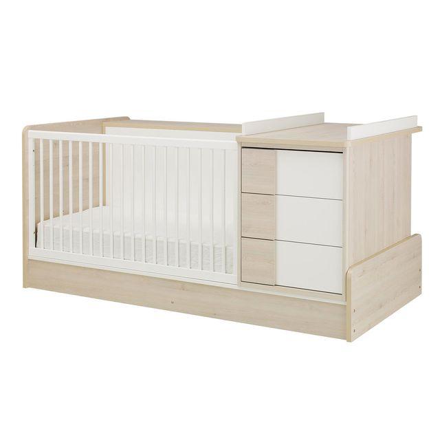 Galipette - Lit bébé combiné évolutif 70x140cm 5 en 1 bibliothèque ...