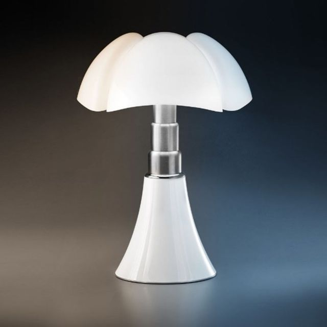 Martinelli Luce Pipistrello 4.0-Lampe Led bluetooth pied télescopique H66-86cm Blanc - designé par Gae Aulenti