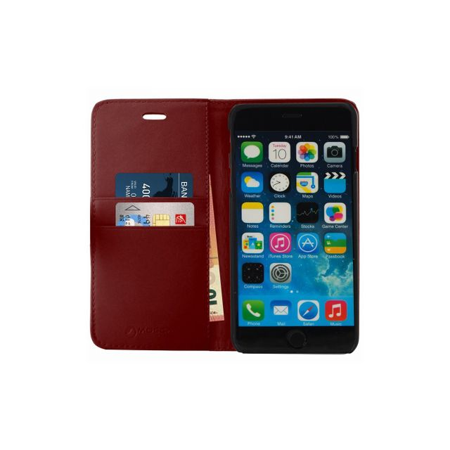 mocca etui folio porte carte bordeaux en cuir iphone 6 plus pas cher achat vente coque. Black Bedroom Furniture Sets. Home Design Ideas