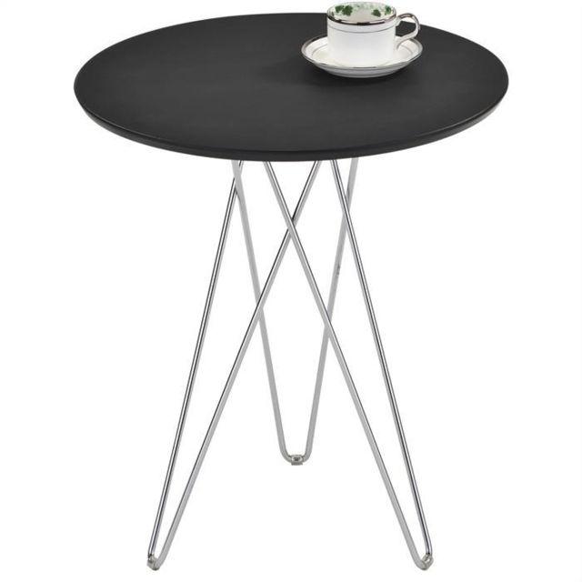 Idimex Table D Appoint Benno Table Basse Ronde Bout De Canapé
