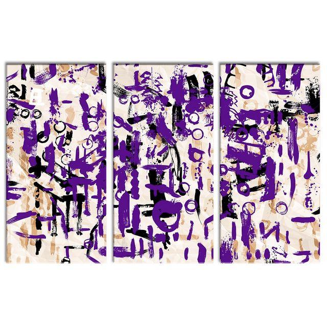 Declina - Vente cadre triptyque art moderne sur toile imprimée 80cm x 120cm