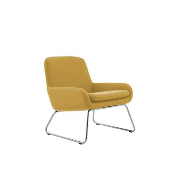 Inside 75 Fauteuil design Coco en tissu jaune Softline