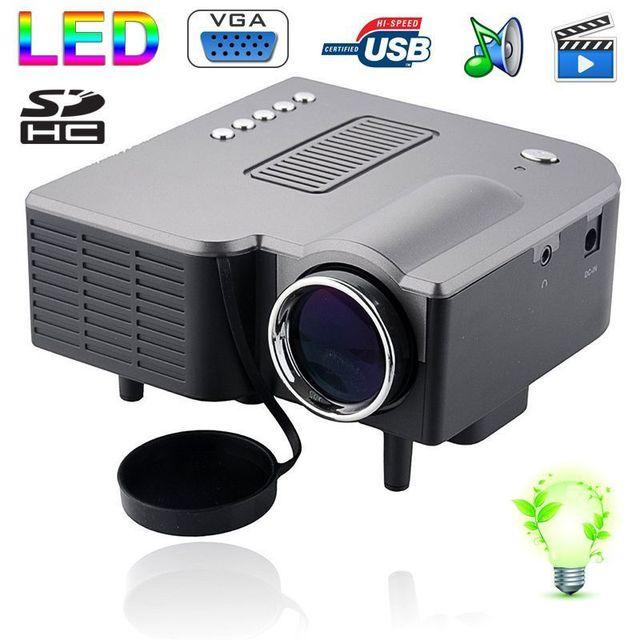 Yonis Mini vidéoprojecteur Led 95W 50 Lumens Full Hd 1080p Noir