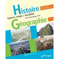 Educagri - histoire-géographie ; espace, temps et durabilité ; bac technologique Stav