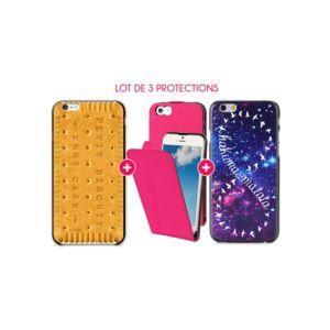coque iphone 6 clapet rose