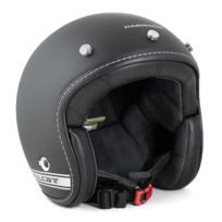 Harisson - casque jet moto scooter fibre noir-gris mat - Ca202