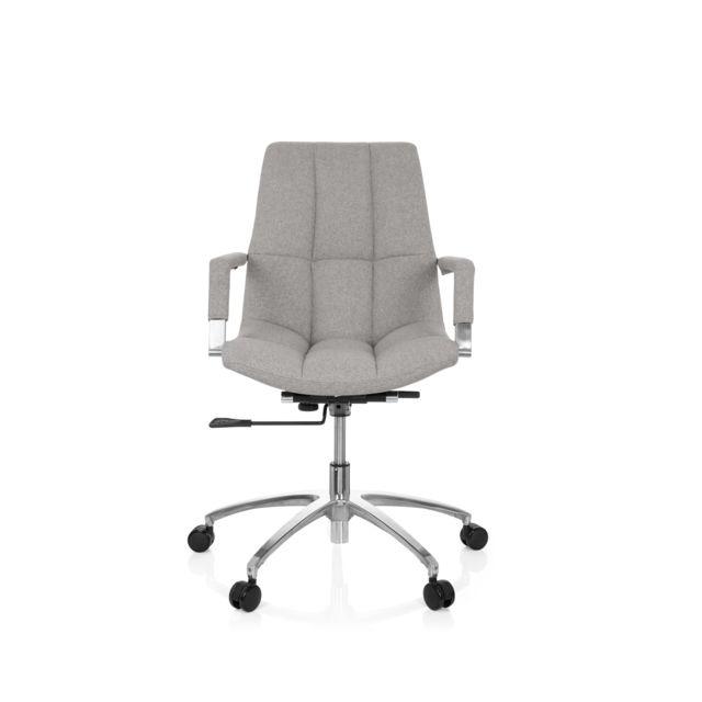 Hjh Office Chaise de bureau siege pivotant Saranto tissu