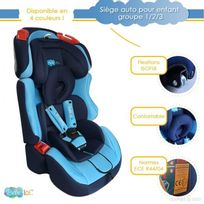 Bebe Lol - Siège auto évolutif Isofix Bébélol® pour enfant groupe 1+2+3 normes Ece R44/04 - bleu