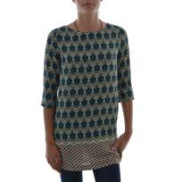 Ryujee - Tee shirt manches longues doriane bleu L