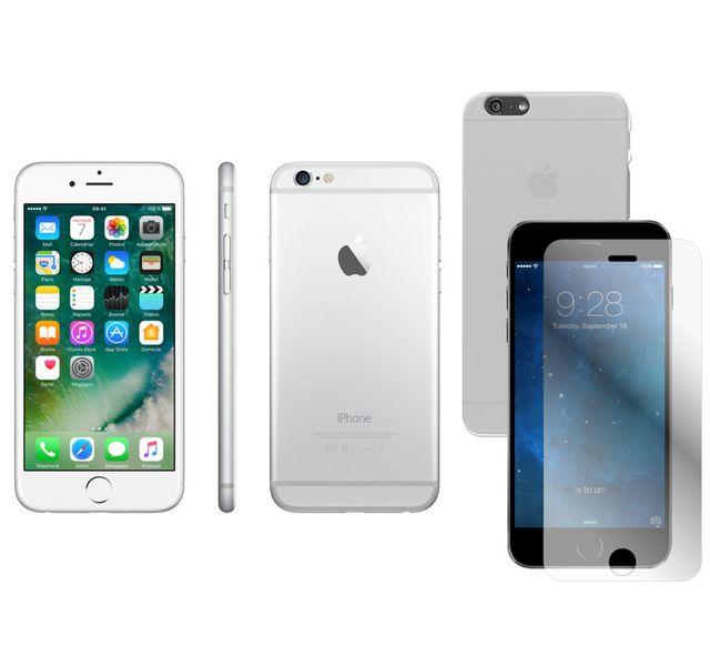 destockage apple iphone 6 64 go argent coque pour iphone 6 4 7 39 39 transparente et prot ge. Black Bedroom Furniture Sets. Home Design Ideas