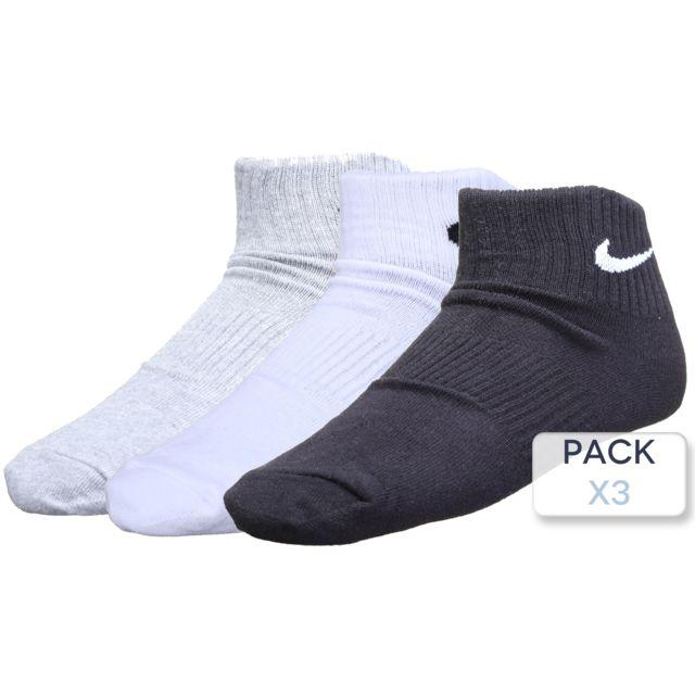 Nike Chaussette Pack X3 Sx4706 901 BlancGrisNoir pas
