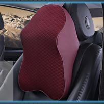 Wewoo - Oreiller d'oreiller de voiture de vin rouge mousse de rebond de mémoire de but de Dual-purpose Coussin de taille respirable de retour