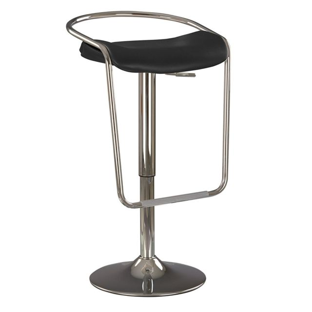 Dubai bat tabouret de bar pivotant design chaise haute de bar campari noir pas cher achat for Tabouret bar pivotant