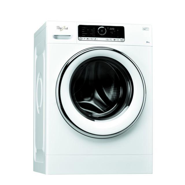 Whirlpool Lave-linge - FSCR80421 - Blanc Capacité de chargement : 8 Kg - Vitesse d'essorage : 1400 trs/min - 69 dB - 10 programmes - Départ différé - Sécurité enfants.