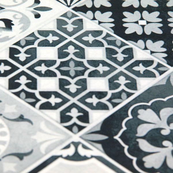 Mon Beau Tapis - Toodoo tapis carreaux de ciment 60x90cm noir New