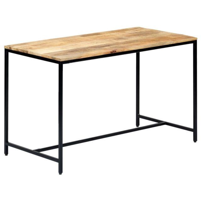 Vidaxl Bois de Manguier Massif Brut Table à Dîner 120x60x75 cm Cuisine Repas