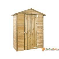 Jardipolys - Abri de jardin en bois traité Merina 1,45m²