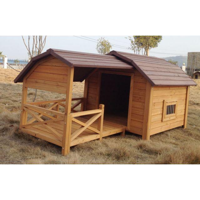 marque generique niche pour chien cheyenne avec terrasse pas cher achat vente niche pour. Black Bedroom Furniture Sets. Home Design Ideas