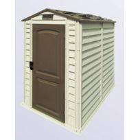Duramax - Abri de jardin ivoire et marron 2,04 m2 Premium Pvc Woodstyle 4x6 - Duws46PR