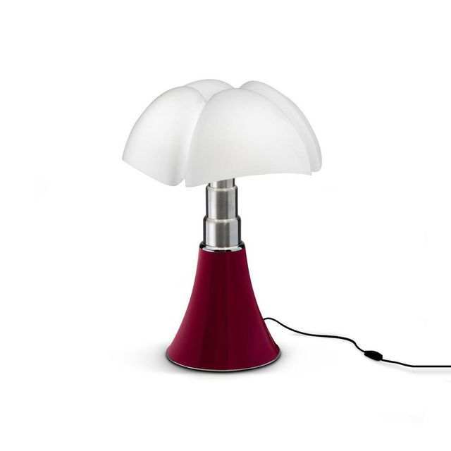 Martinelli Luce Mini Pipistrello - Lampe Rouge Led H35cm - Lampe à poser designé par Gae Aulenti