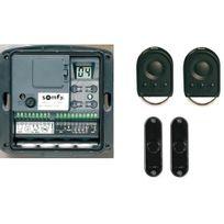 Somfy - Armoire de commande motorisation porte de garage enroulable pack confort Axroll