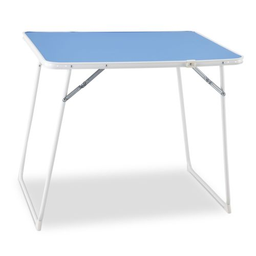 carrefour table pliante 80x60 cm bleu pas cher achat vente table de camping. Black Bedroom Furniture Sets. Home Design Ideas