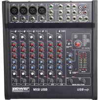 Power Acoustics - Mx 8 Usb Table de Mixage 10 Entrées avec Usb