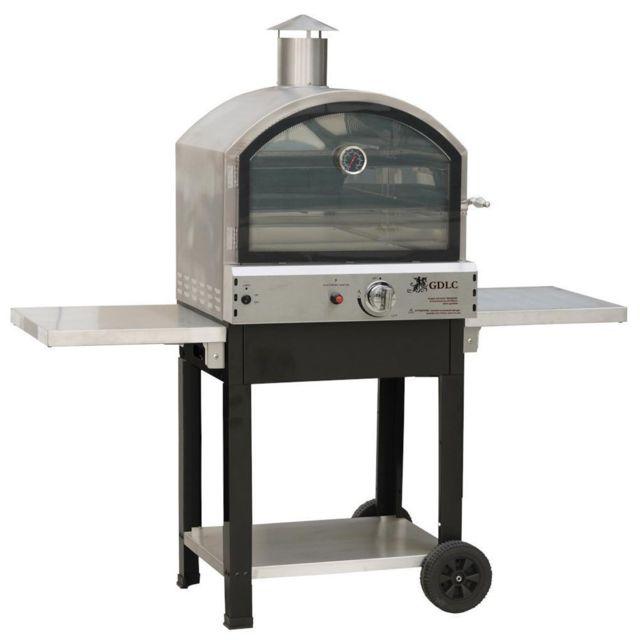 kemper four a gaz barbecue ext rieur 4700w mobile 2 tages de cuisson pizza sur pierre et four. Black Bedroom Furniture Sets. Home Design Ideas