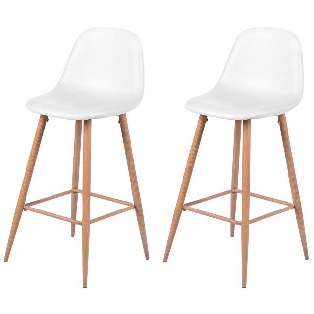 rendez vous deco chaise de bar rodrik blanche 73 cm lot. Black Bedroom Furniture Sets. Home Design Ideas