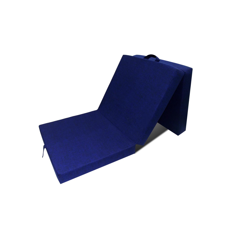 Rocambolesk - Superbe Matelas en mousse pliable bleu 190 x 70 x 9 cm Neuf