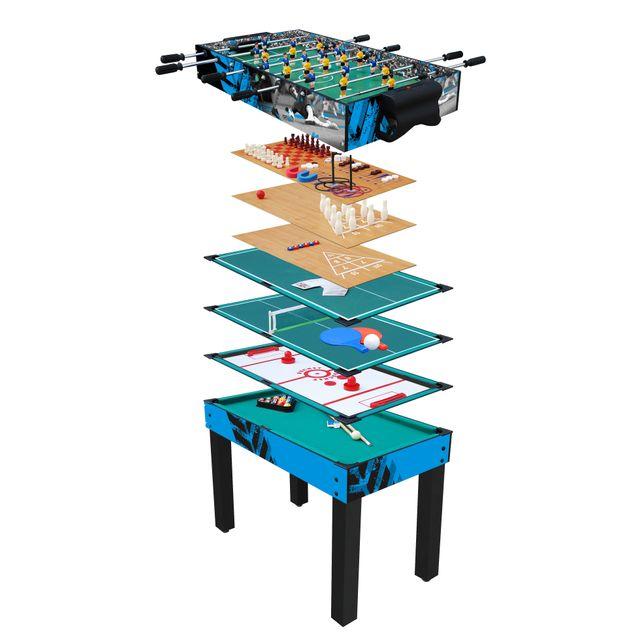 RUE DU COMMERCE - Table multijeux 12 en 1