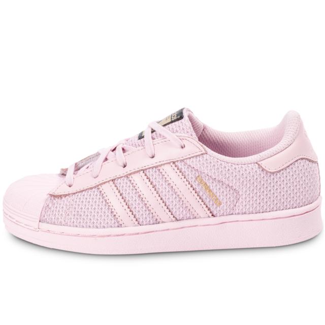 Adidas originals Superstar Nylon Enfant Rose Baskets