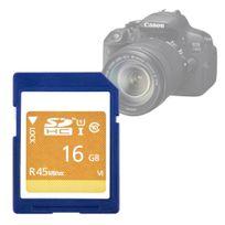 Duragadget - Carte mémoire Sdhc 16GB SD Haute Capacité, Class10 45MB/S de norme 3.01